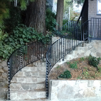 Wrought Iron Benicia, Staircase